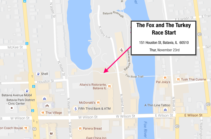The Fox and The Turkey Race Starts in Downtown Batavia
