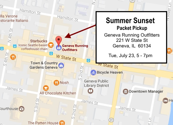 Summer Sunset Packet Pickup